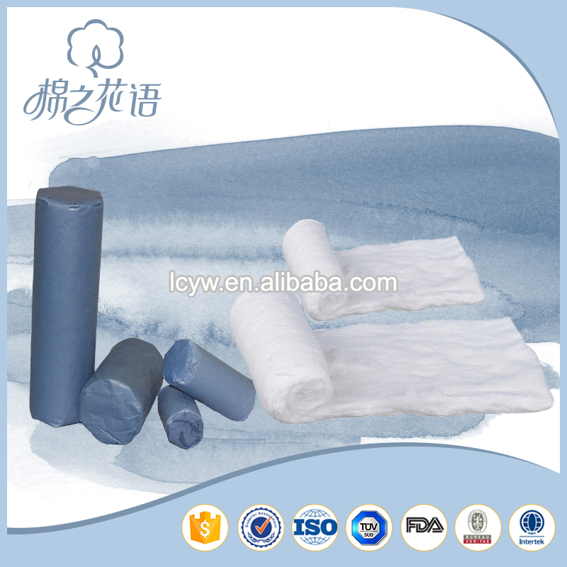 Absorbent cotton wool blend fabric pads for medical use