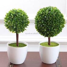 Artificial ball tree Crape Myrtle Trees Artificial Fake Plants Plastic Fabric Desk Table Decor Potted
