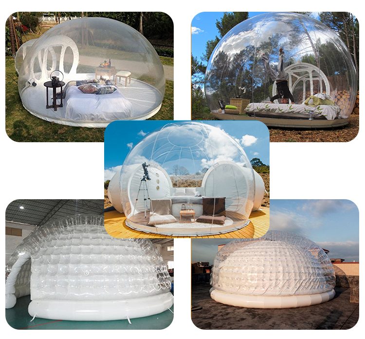 Outdoor Camping Luxury Inflatable Transparent Clear Bubble Tree Lodge Tent Hotel For Sale
