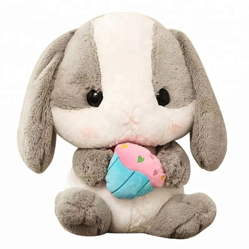 New styles American Fuzzy Lop loppy eared <strong>rabbit</strong> Cute white <strong>rabbit</strong> stuffed toy for valentine's day New Year gift