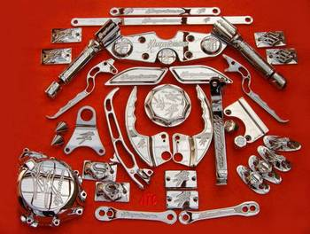 HAYABUSA GSXR 600 750 1000 BILLET & OEM CHROME PARTS & FAT TIRE KITS