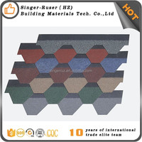Flat asphalt shingles Philippines,Thailand,Malaysia Asphalt Shingle Suppliers Mosaic Roof Tiles