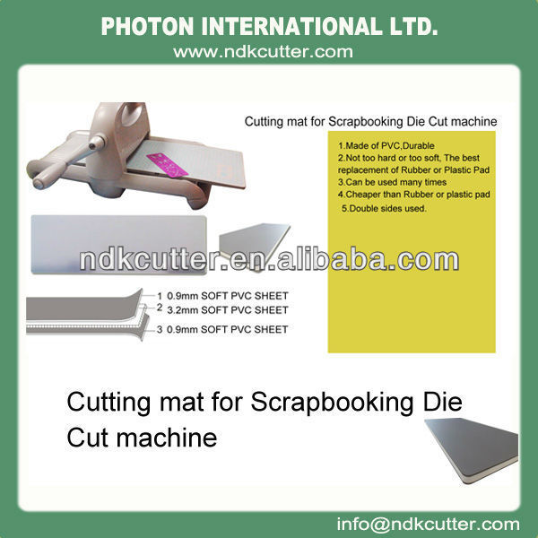 Scrapbooking die cut machine cutting mat