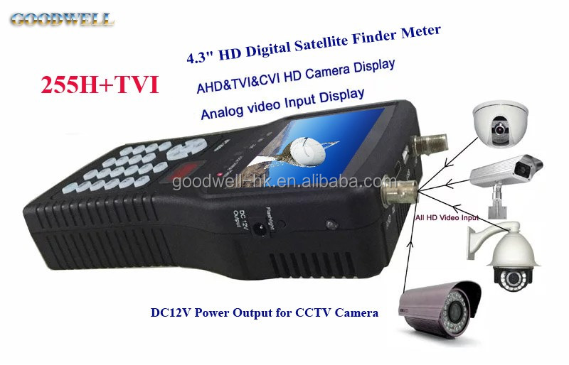 "251H+TVI 4.3"" Portable Digital Satellite Signal Finder Meter with HDMI Output Built in Battery"