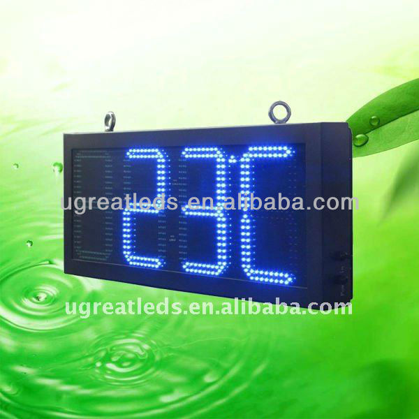Alibaba Express China New Led product RF control outdoor led clock time date temperature sign
