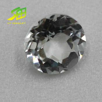 Natural shine dazzling round white topaz