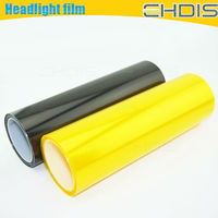 yellow car wrap vinyl film headlight protector headlight color changing film