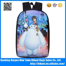 2016 New designer best selling cute young girls carton backpacks wholesale factory price PU school school bag for teenagers