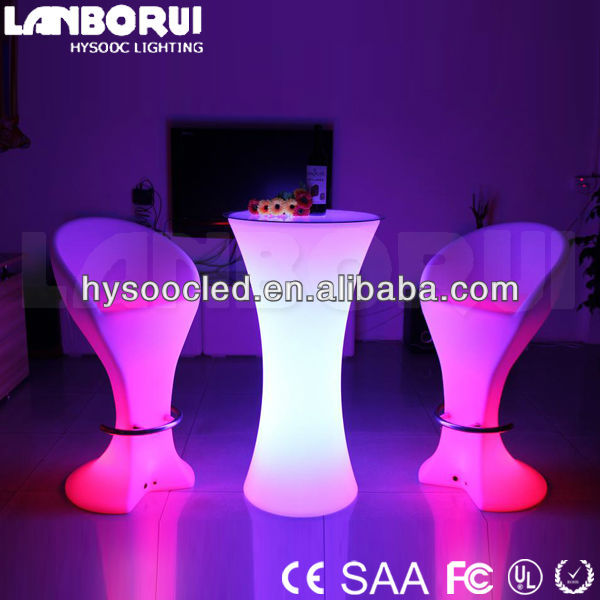 RGB color via remote control cocktail shape led tables