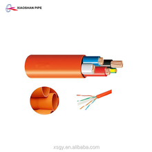Electrical wire protection heat resistant pipe pvc 63mm orange color