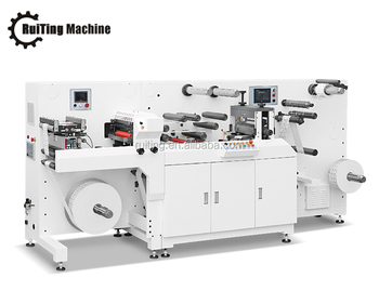 TOP-330F high speed plus servo control rotary label die cutter with flexo printing system