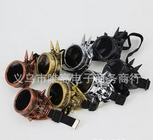 Victorian Gothic Cosplay Rivet Steampunk Goggles Glasses Welding Punk free shipping
