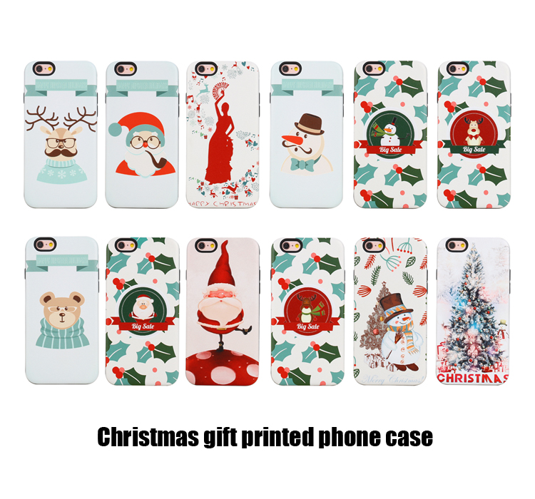 Best selling christmas phone case, wholesale silicon cartoon mobile cover for iphone 7