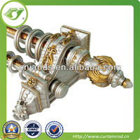 China Luxury quality European classical style resin finial curtain rod