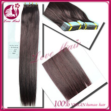 Love hair company 30 inch remy tape hair extensions cheap fake skin weft hair brazilian smooth hair in china