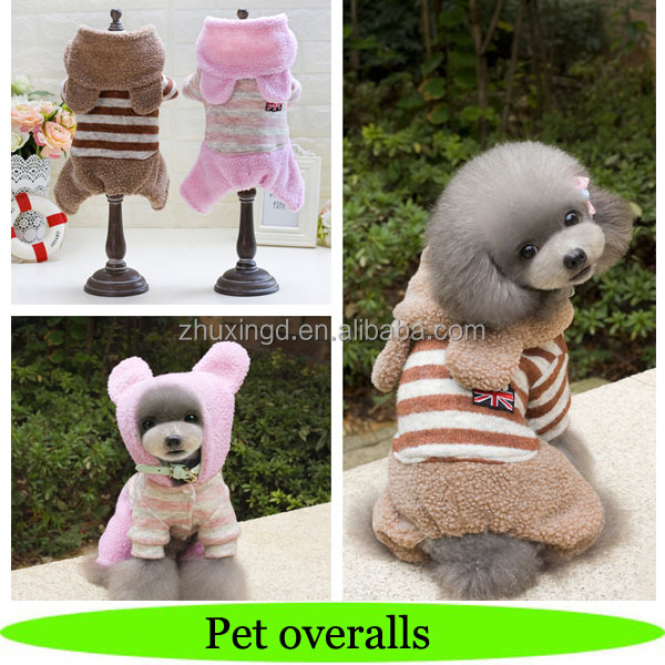 2018 dog overalls, striped pet jumpsuit, pet article