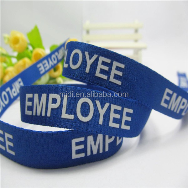 1 inch High quality Custom Woven Ribbon With Words