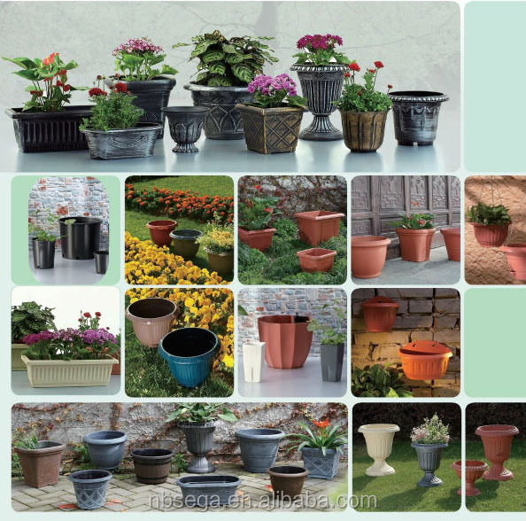 rectangular plastic flower pots
