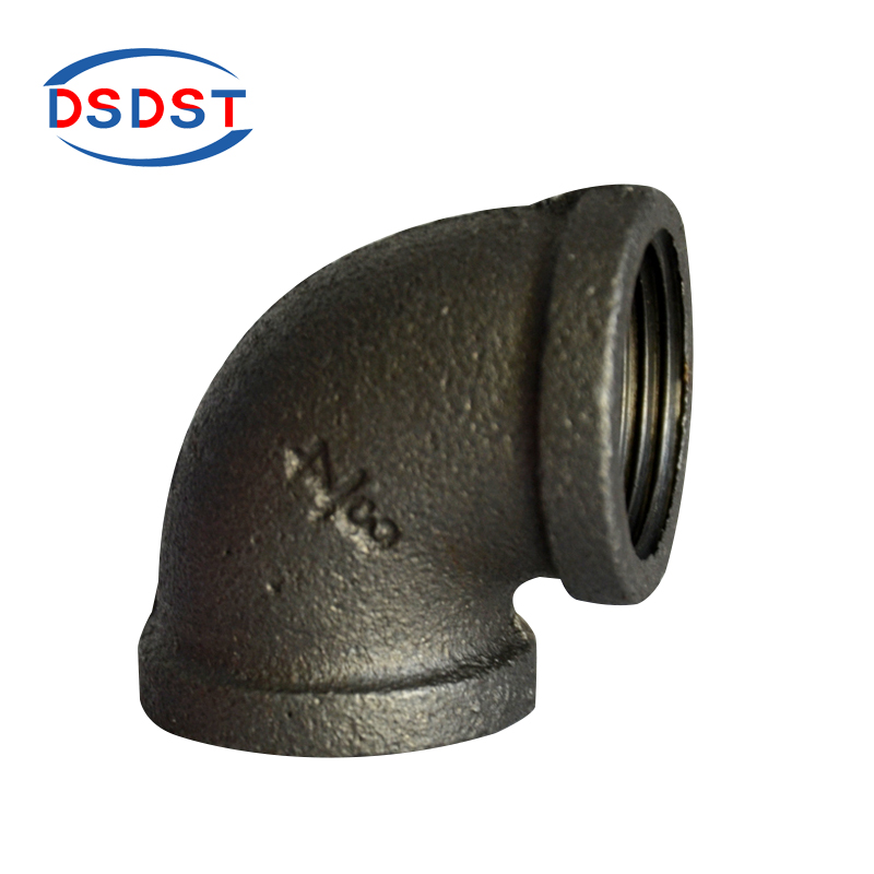 90 degree black malleable iron elbow pipe fittings used for water pipe joint