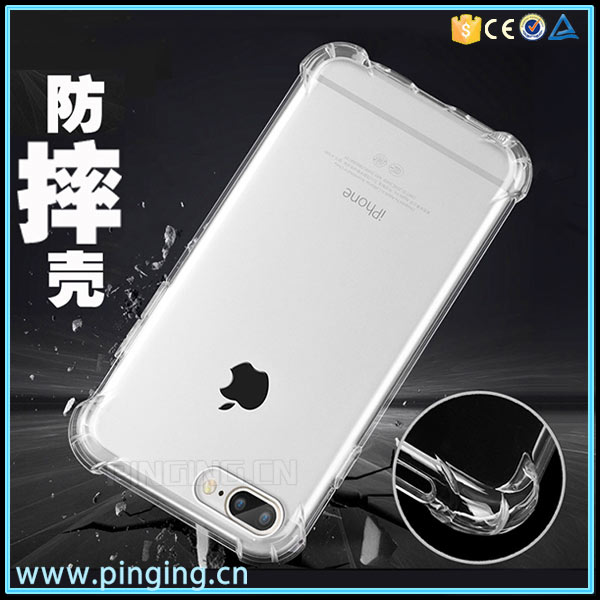 Hot Sale Slim Thin Soft TPU Air Cushion Corner Anti-fall Shockproof Protective Case for Apple iPhone 7 Plus