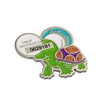 Personalized die cast badge,custom logo souvenir magnetic epoxy badge