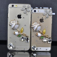 Best Match Rose Design Rhinestone Diamond Crystal Case Cover for apple iphone 5 Beautiful Personalized mobile phone cases