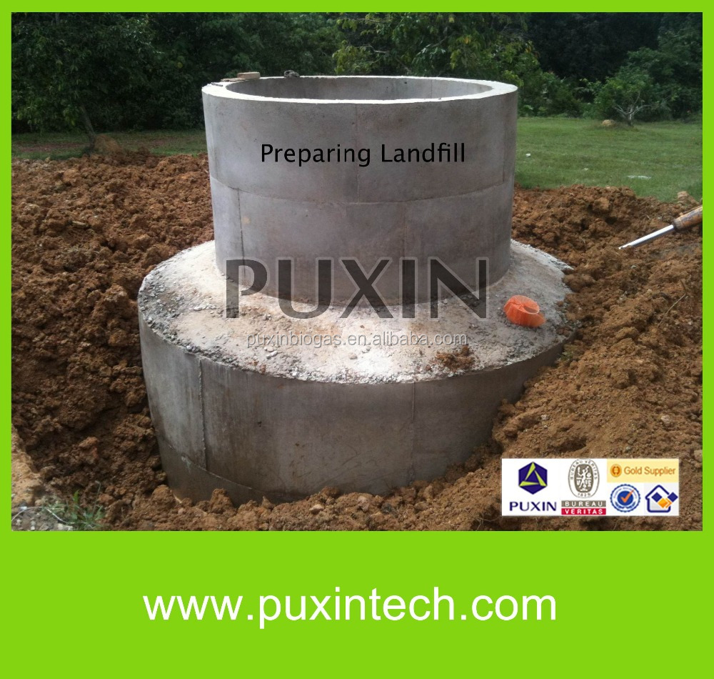 PUXIN 6m3 home use biogas digester for waste water purification