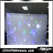 Portable soft led star backdrop star curtains for stage decoration