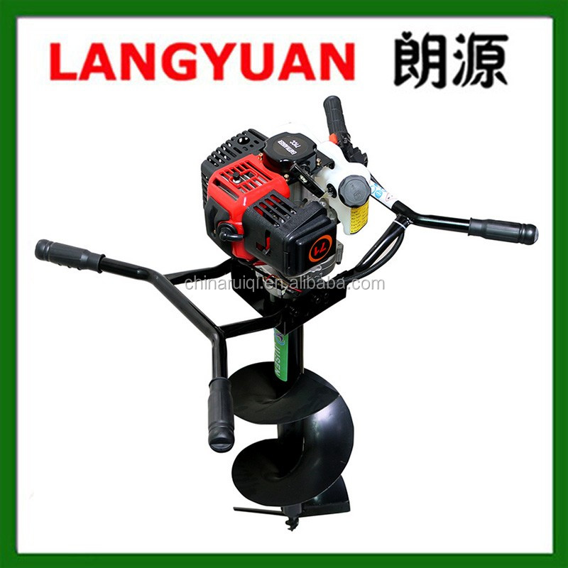 Heavy duty two persone use 71cc garden hole digger earth auger ground grill
