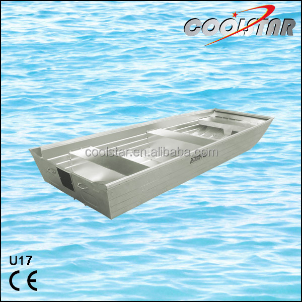 Flat bottom and Flat bow aluminum boat