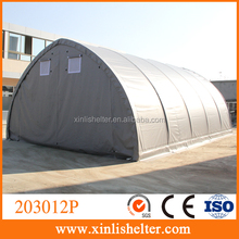 Frost resistance steel frame prefab folding garage with vent