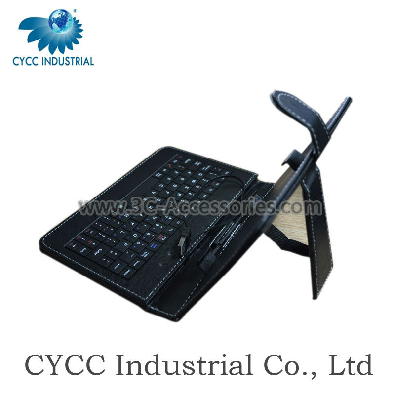 USB Cable Keyboard Leather Case for 7 Inch Tablet PC