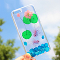 Real Flower Case For iPhone Elegant Clear Crystal Hard Plastic 6 6S Plus 7 7Plus 8 8Plus