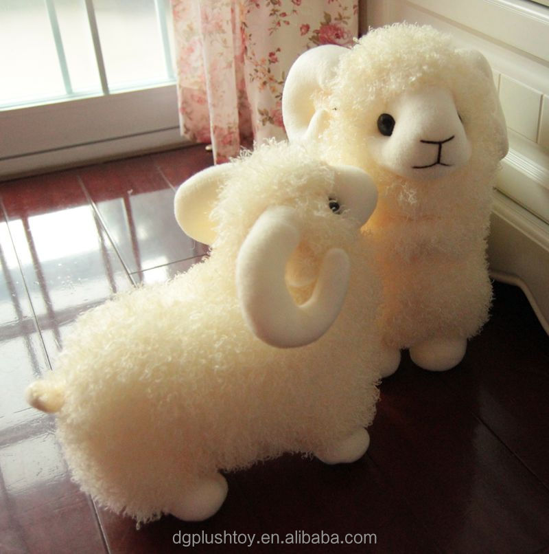 Soft White Stuffed Sheep Plush Animal Baby Toy