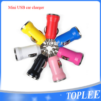 Free Shipping high quality colorful 5V 1A mini usb car charger for iphone 5 5s