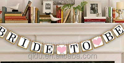 Bride To Be Bunting Banner Wedding Party Hanging Decorations Photography Props