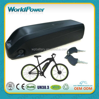 2016 The newest dowtube ebike/e-bike batteries 48V 14Ah