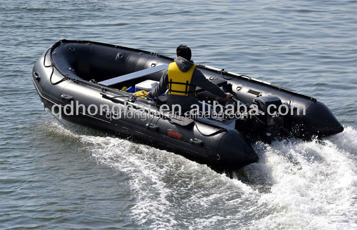 CE certificate 15ft folding pvc large inflatable fishing boat for sale