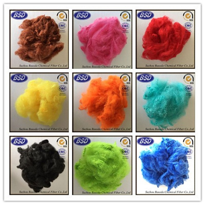 5d x64mm PET Flakes polyester staple fiber for carpet use