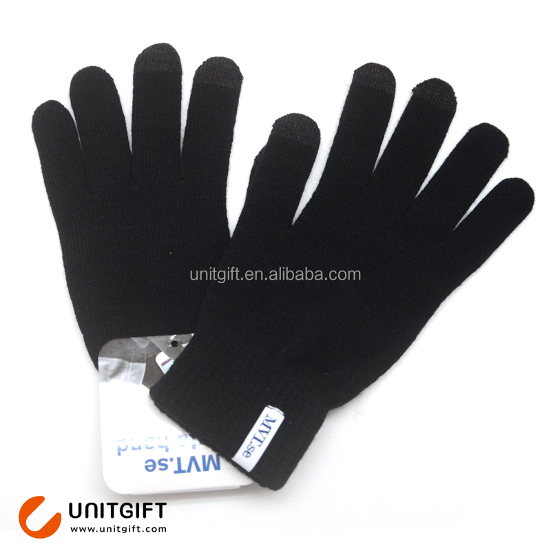 Custom hand winter gloves for touch screen