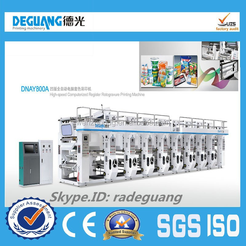 2015 hot sale Plastic Film gravure printing machine, plastic printing machine, printing press