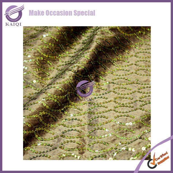 19113-9 Wedding event decoration chevron sequin wedding table linen