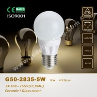 5W G50 ceramic high lumen 500lm LED Globe Bulb Light e27 b22