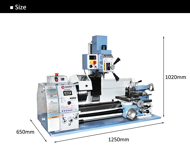 mini lathe milling machine bhp290vf x y axis auto feed