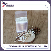 Wooden stick 100% degreasing cosmetic cotton buds/cotton swabs/cotton tips
