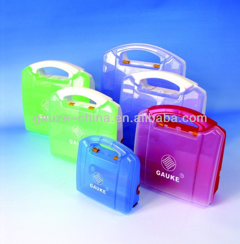 CE FDA variety sizes PP plastic empty first aid box, frist aid kit