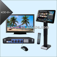 Professional HDMI Karaoke System Supports Two 3TB Hard Drive & Touch Screen (KOD-8H)