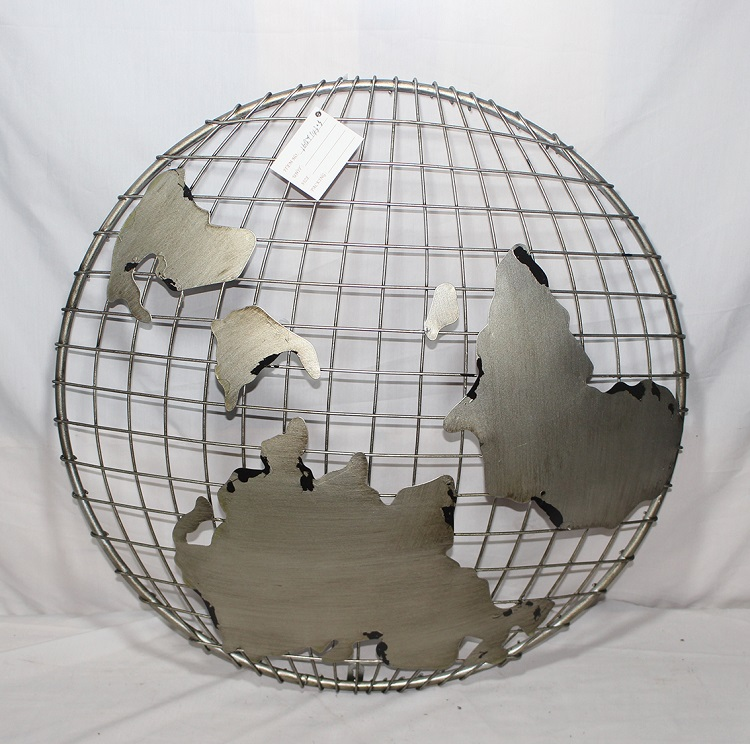 List manufacturers of world map metal wall buy world map metal wall galvanized ball mesh antique world map metal wall decor gumiabroncs Gallery