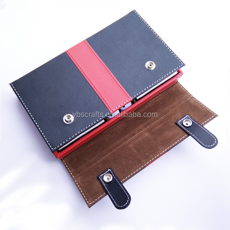 china wholesale hot new products for 2015 Luxury hot sale pu material Leather Poker Playing Cards Case with Box