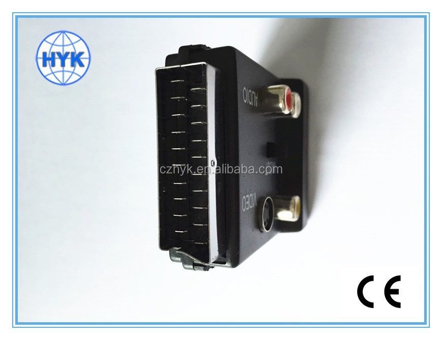 High quality 21-pin scart adaptor / connector/scart plug/scart cable